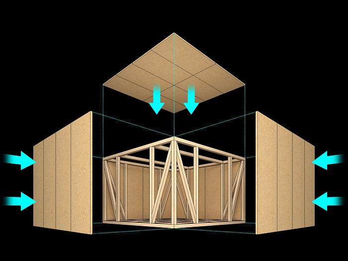 【その他画像】 (在来軸組工法)柱・梁などの軸組みでお家全体を支え、優れた耐震性を実現しました。