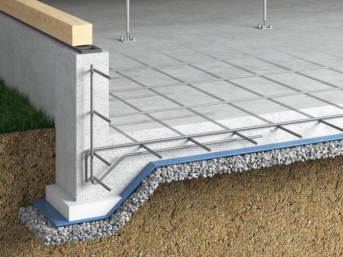 【その他画像】 (ベタ基礎工法)建物の地盤面全体に鉄筋を配し、コンクリートを流し込むことで、面で建物を支えます。