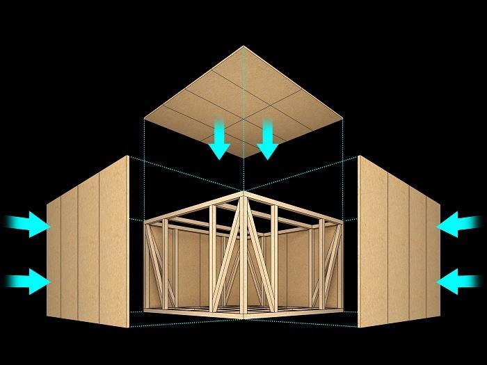 【その他画像】 柱・梁などの軸組みでお家全体を支え、優れた耐震性を実現しました。