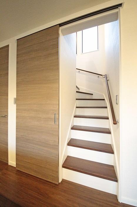 【その他画像】 (リビングイン階段)プライバシー保護や音・熱も遮断する為にドアの設置が可能。※